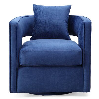 Rayners Swivel Barrel Chair Upholstery: Navy