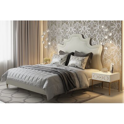 Downen Upholstered Platform Bed Size: King, Color: Gray