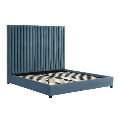 Wooden Twin Panel Bed Bed Frame Color: Sea Blue