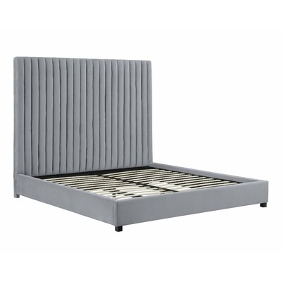 Abid Upholstered Platform Bed Size: King, Color: Gray