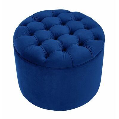 Queen Storage Ottoman Upholstery: Navy