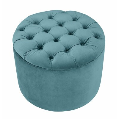 Queen Storage Ottoman Upholstery: Sea Blue