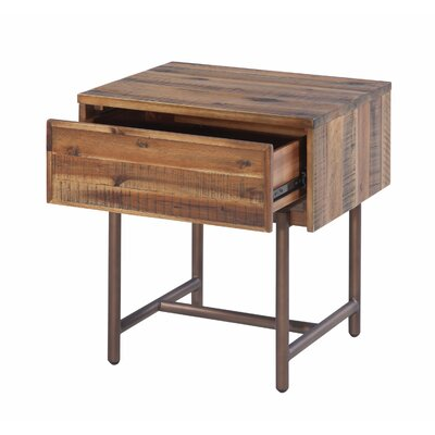 Wooden 1 Drawer Nightstand