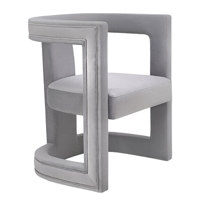 Babb Barrel Chair Upholstery: Gray