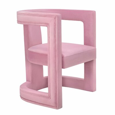 Babb Barrel Chair Upholstery: Pink