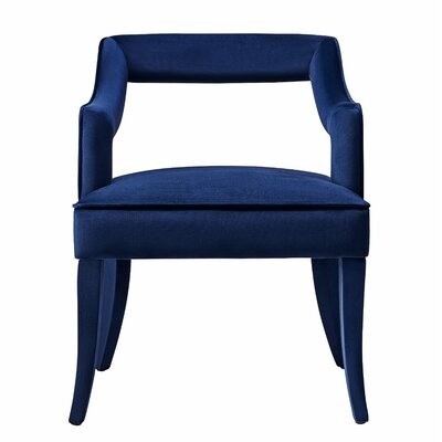 Amabilia Armchair Upholstery: Navy