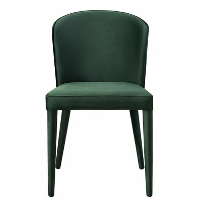 Almanzar Side Chair Upholstery: Green