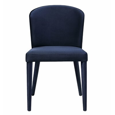Almanzar Side Chair Upholstery: Navy