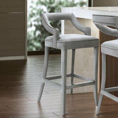Amabilia 26 Bar Stool Upholstery: Gray