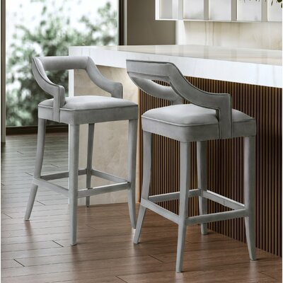 Amabilia 30.7 Bar Stool Upholstery: Gray