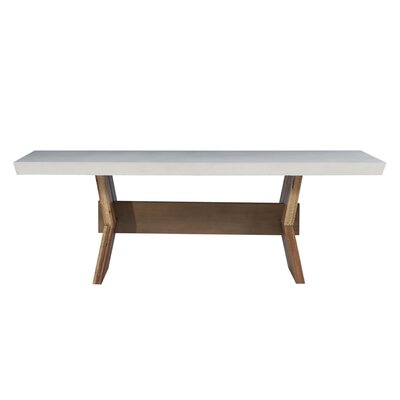 Dusek Concrete Dining Table Top Color: White