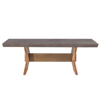 Dusek Concrete Dining Table Top Color: Dark