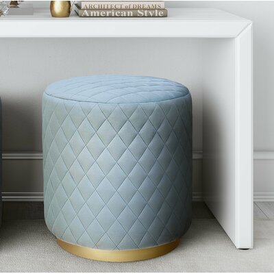 Rolle Ottoman Upholstery: Light Blue