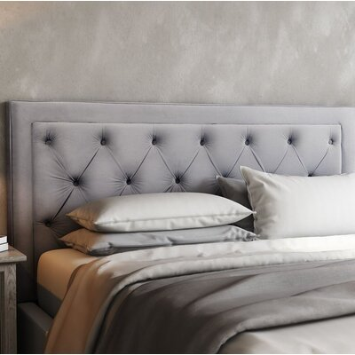 Rowan Upholstered Panel Headbaord Size: 55 H x 62.2 W x 3.2 D, Upholstery: Gray