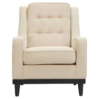 Crain Armchair Upholstery: Oatmeal Linen
