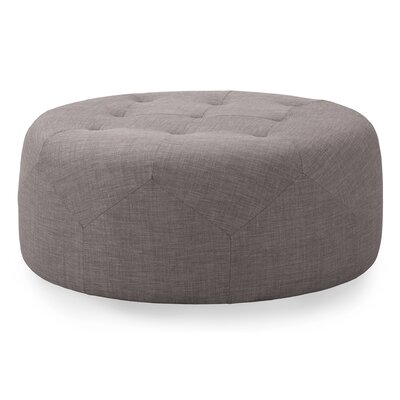 Crain Cocktail Ottoman Upholstery: Gray tweed