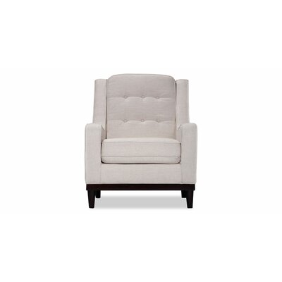 Crain Armchair Upholstery: White Linen