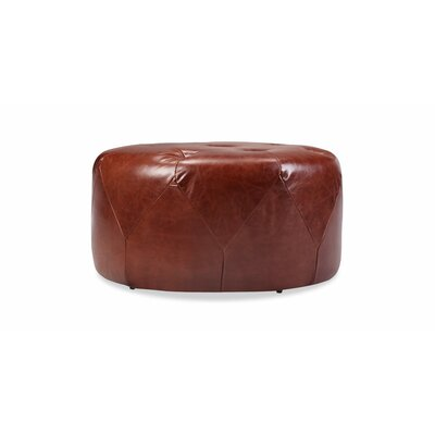 Crain Cocktail Ottoman Upholstery: Distressed Brown Leather