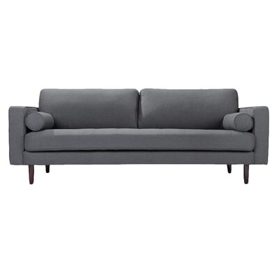 Freeman Sofa Upholstery: Charcoal Blue Linen