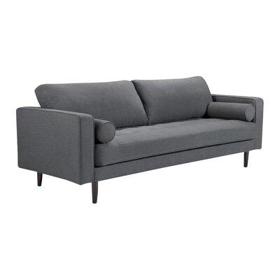 Crain Sofa Upholstery: Charcoal Blue Linen