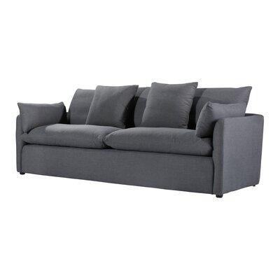 Jimi Sofa Upholstery: Charcoal Blue Linen