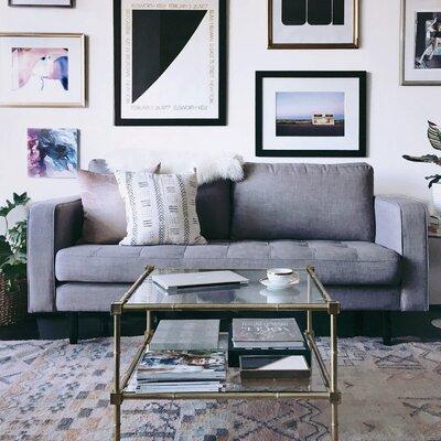 Freeman Sofa Upholstery: Gray Tweed