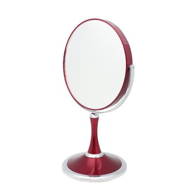 Vanity Mirror Finish: Chrome and Red