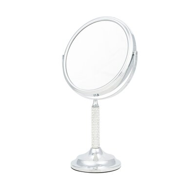 Crystal Stem 5x Magnification Makeup/Shaving Mirror D878