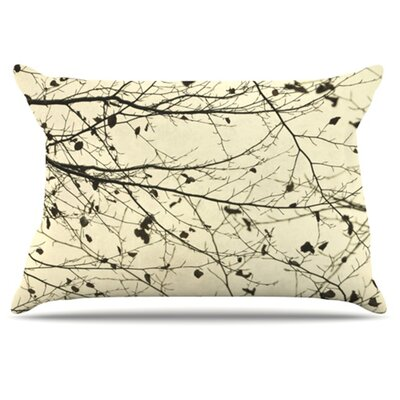 Boughs Neutral Pillowcase Size: Standard