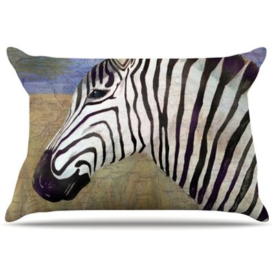 Zebransky Pillowcase Size: King