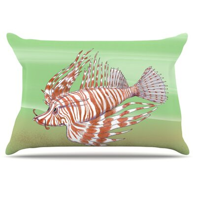 Fish Manchu Pillowcase Size: Standard