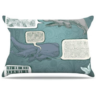 Whale Talk Pillowcase Size: Standard