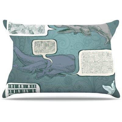 Whale Talk Pillowcase Size: King