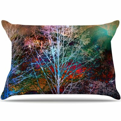 Trees in the Night Pillowcase Size: King