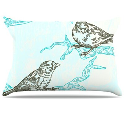 Birds in Trees Pillowcase Size: Standard