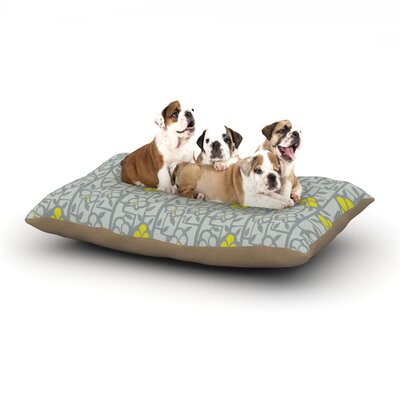 Allison Beilke Deco Orchids Dog Pillow with Fleece Cozy Top Size: Small (40 W x 30 D x 8 H)