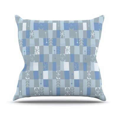Nature Check Winter by Allison Beilke Throw Pillow Size: 16 H x 16 W x 1 D