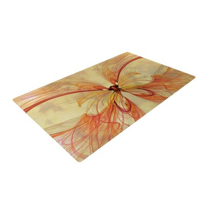 Alison Coxon Papillon Yellow/Red Area Rug Rug Size: 4 x 6