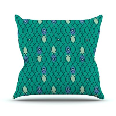 Suncoast Emerald by Allison Beilke Throw Pillow Size: 18 H x 18 W x 1 D