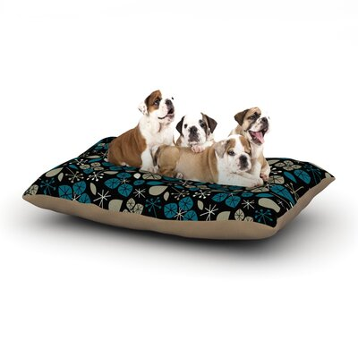 Allison Beilke Leaf Scatters Midnight Dog Pillow with Fleece Cozy Top Size: Large (50 W x 40 D x 8 H)