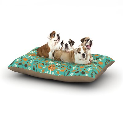 Allison Beilke Autumn Harvest Blue Dog Pillow with Fleece Cozy Top Size: Large (50 W x 40 D x 8 H)