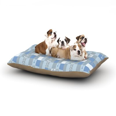 Allison Beilke Nature Check Winter Dog Pillow with Fleece Cozy Top Size: Small (40 W x 30 D x 8 H)