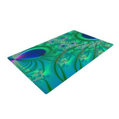 Alison Coxon Fractal Turquoise Area Rug