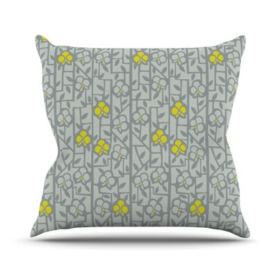 Deco Orchids by Allison Beilke Throw Pillow Size: 26 H x 26 W x 1 D