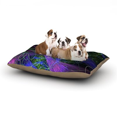 Alison Coxon Floral Garden Dog Pillow with Fleece Cozy Top Size: Large (50 W x 40 D x 8 H)