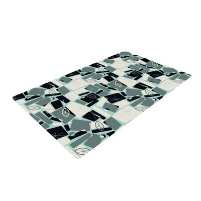 Allison Beilke Vacation Days Chess Cream/Gray Area Rug Rug Size: 2 x 3