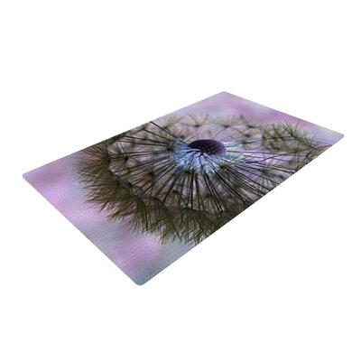 Alison Coxon Dandelion Clock Purple/Green Area Rug