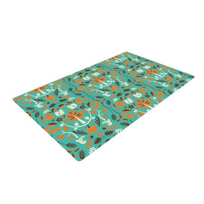 Allison Beilke Autumn Harvest Blue/Green Area Rug Rug Size: 2 x 3