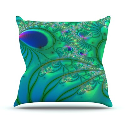 Fractal Outdoor Throw Pillow Size: 16