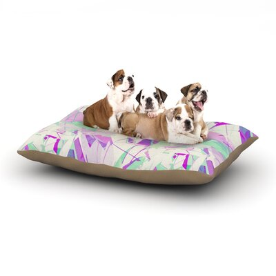 Alison Coxon Shatter Dog Pillow with Fleece Cozy Top Size: Large (50 W x 40 D x 8 H), Color: Purple